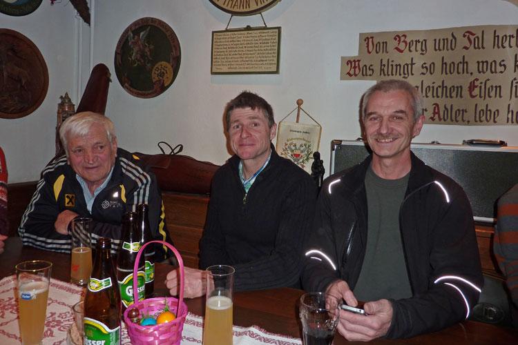 Hermann Kirschner, Andreas Eiter und Rainer Kurz