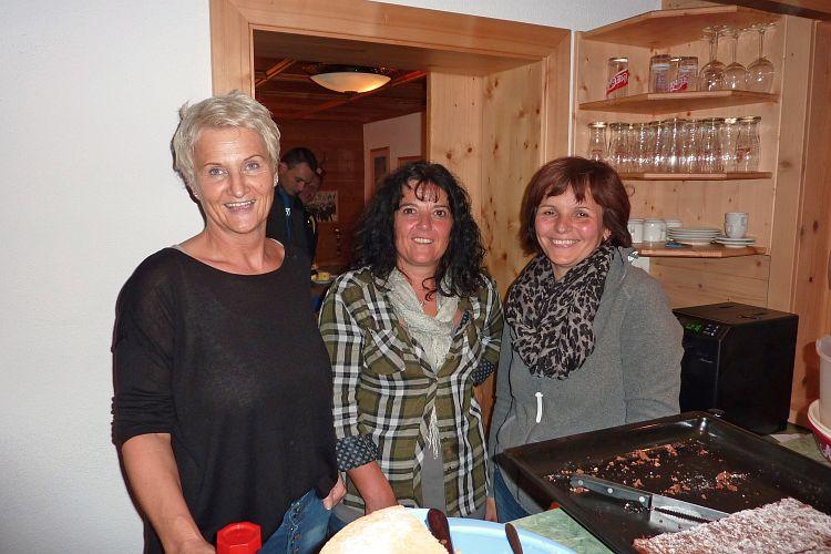 Die Damen im Service