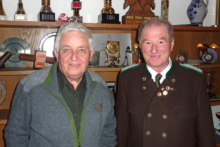 Unsere beiden Ehrenoberschützenmeister