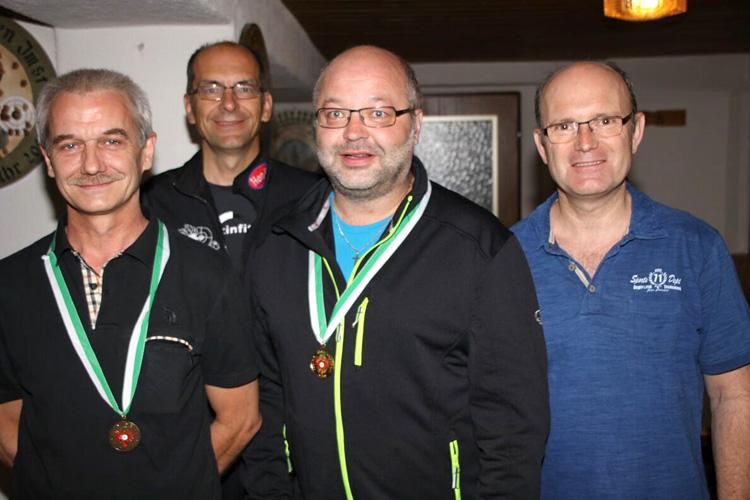 Siegerehrung mit Rainer Kurz auf Rang 3