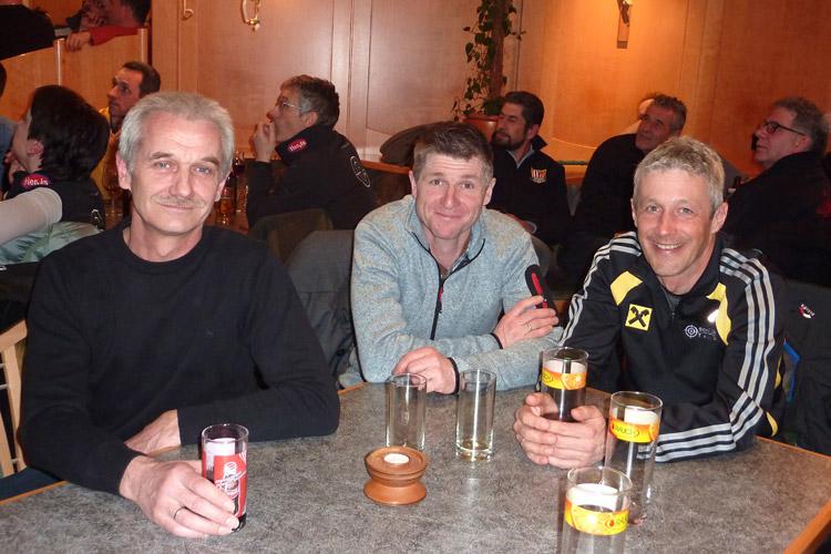 Rainer Kurz, Andi Eiter und Ronald Ladner